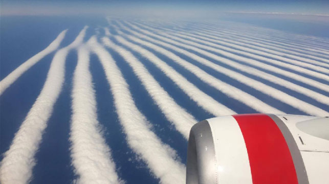 Spectacular clouds snapped on Perth flight