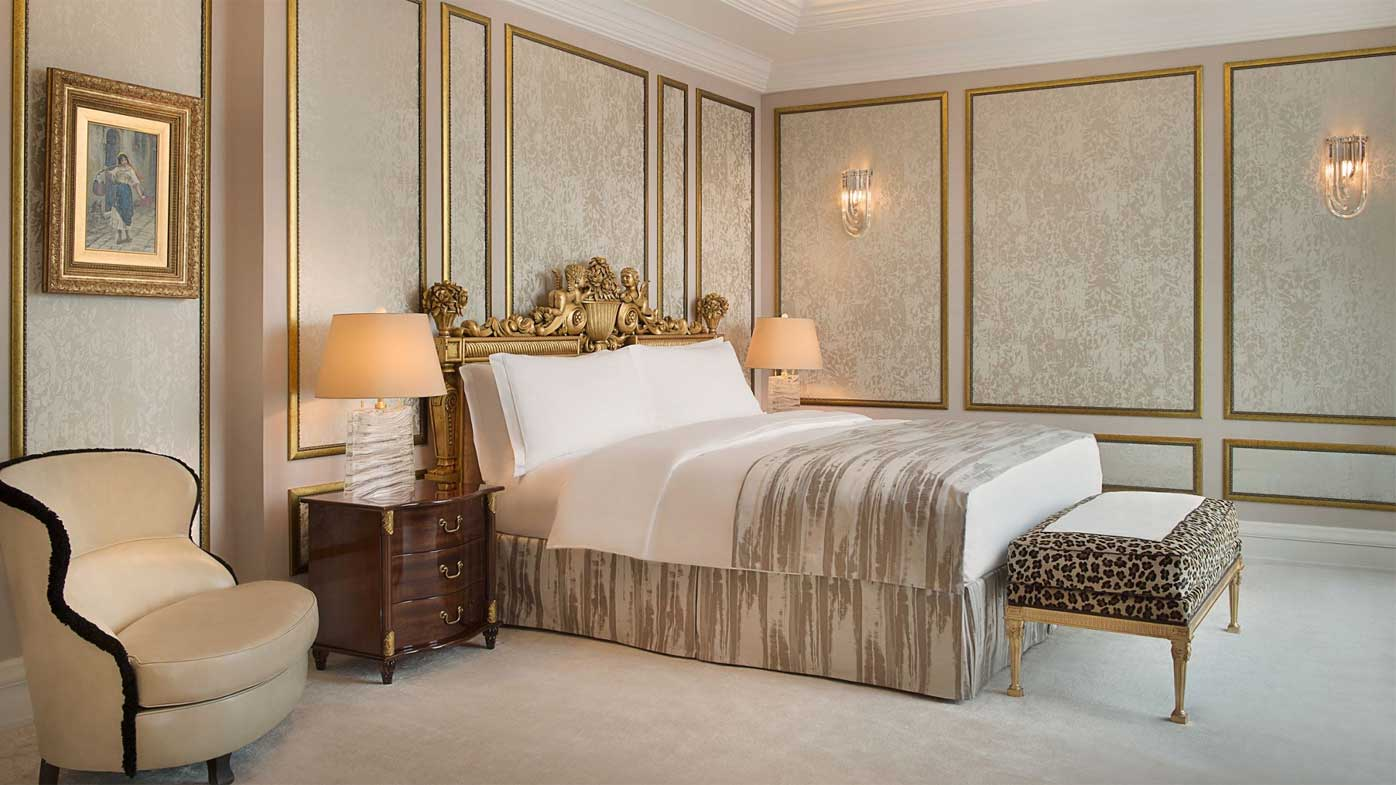 The presidential suite at the Ritz-Carlton hotel in Moscow.