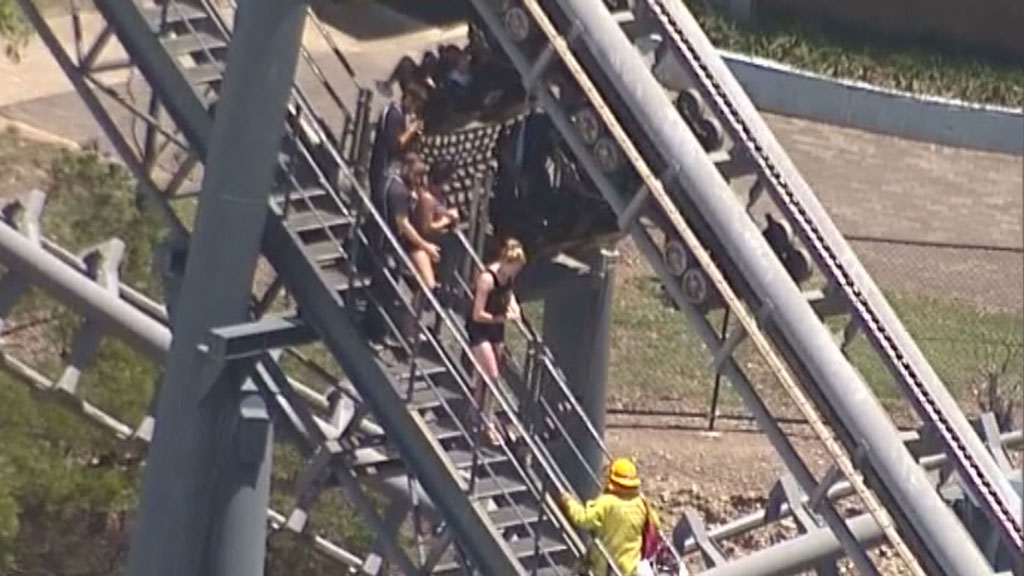 Patrons were left hanging for more than an hour. (9NEWS)