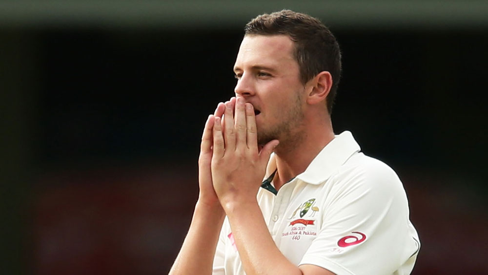 Josh Hazlewood's fingers are a hot topic. (AAP)