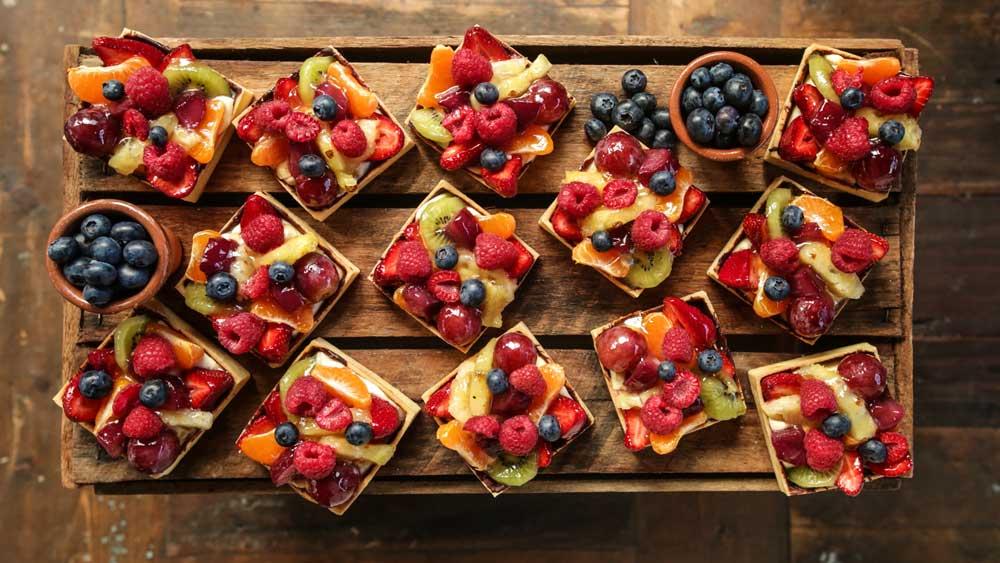 The Grounds' mixed fruit tarts