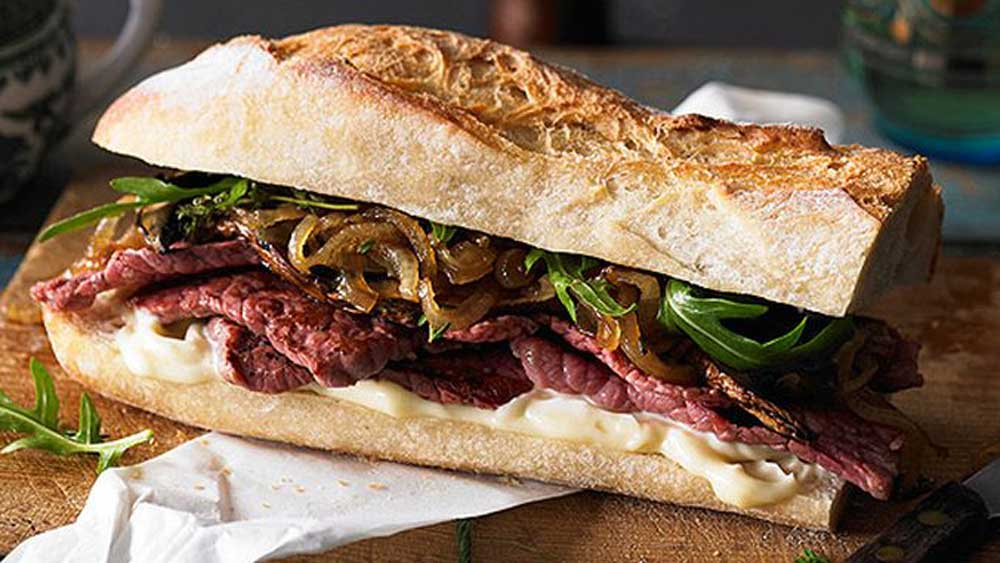 "<p>We're (mostly) back to work, which means that the holiday food is over... but just because we're back to routine doesn't mean that lunch has to become boring. Just to remind us how awesome a good sandwich can be, here's our ultimate collection. From world class reubens to classic steak, we defend the humble sandwich with a parade of all things delicious and book-ended by bread, starting with our <strong><a href=""http://kitchen.nine.com.au/2016/05/05/13/19/gourmet-silverside-steak-sandwich-with-caramelised-onions"" target=""_top"">gourmet silverside steak sandwich with caramelised onions</a>.</strong></p> <p>Or you can learn how to <a href=""http://kitchen.nine.com.au/2016/06/20/08/40/build-the-best-sandwich"" target=""_top"">build a better sandwich here</a>. <strong><br /> </strong></p>"