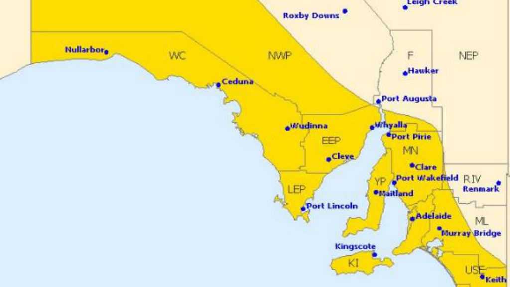 Ferocious winds and heavy rainfall forecast for parts of SA