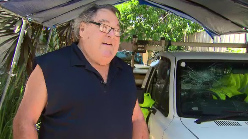 Steve, 71, was punched and had his car kicked in a road rage attack on Melbourne's Western Ring Road. (9NEWS)