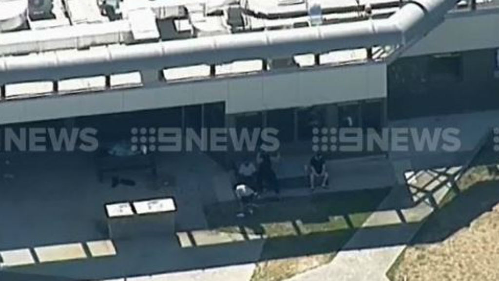 The youths allegedly used metal table legs to intimidate staff. (9NEWS)