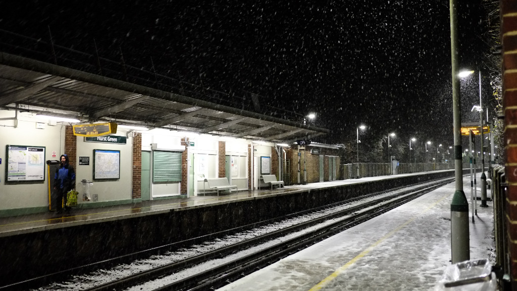 There are fears the severe weather conditions could affect Tube and train services throughout the country. (AFP)