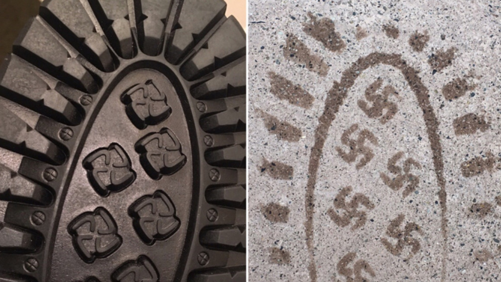 US company recalls boots after wearer discovers tiny swastika prints on soles