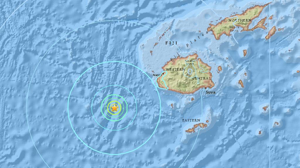 Strong 6.1 earthquake strikes off coast of Fiji