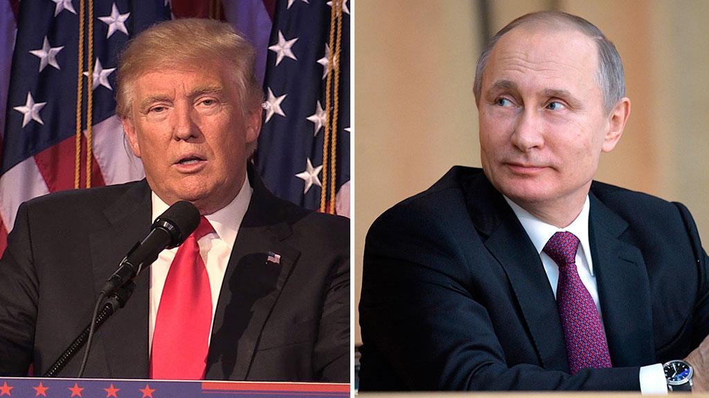 US President Donald Trump (left) and Russian President Vladimir Putin. (AAP)