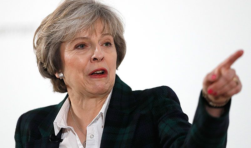 British PM Theresa May says the UK will make a clean break from the EU and leave its single market of around 500 million people. (AAP)