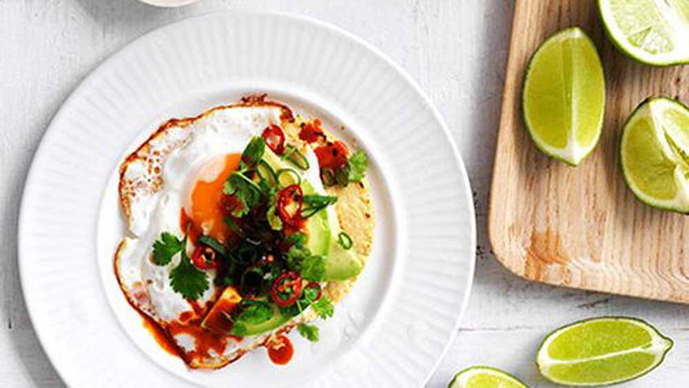 Fried-egg, avocado and chilli