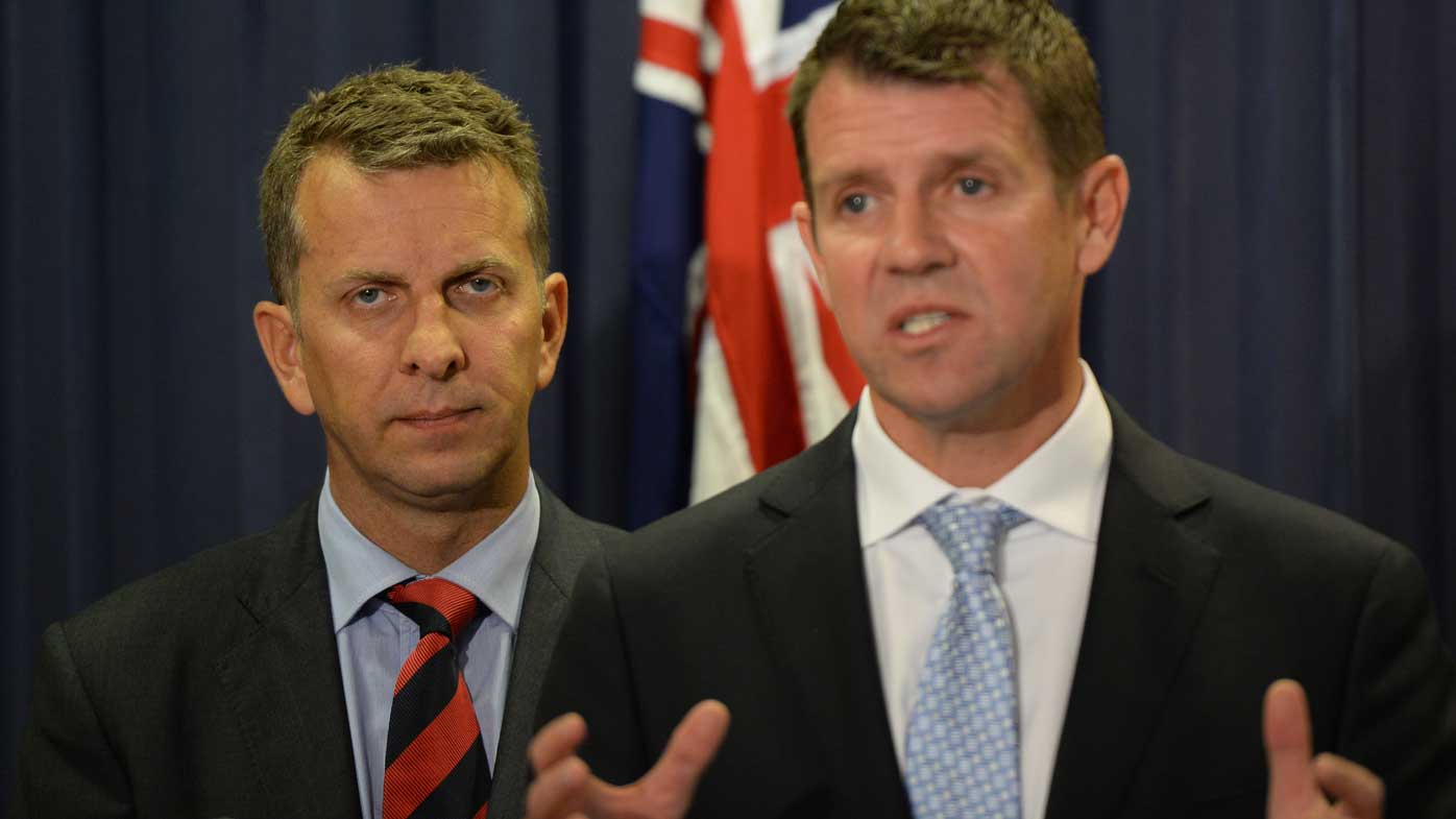 Andrew Constance and Mike Baird. (AAP)