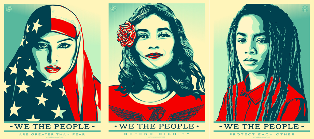 Image result for shepard fairey art the women's march