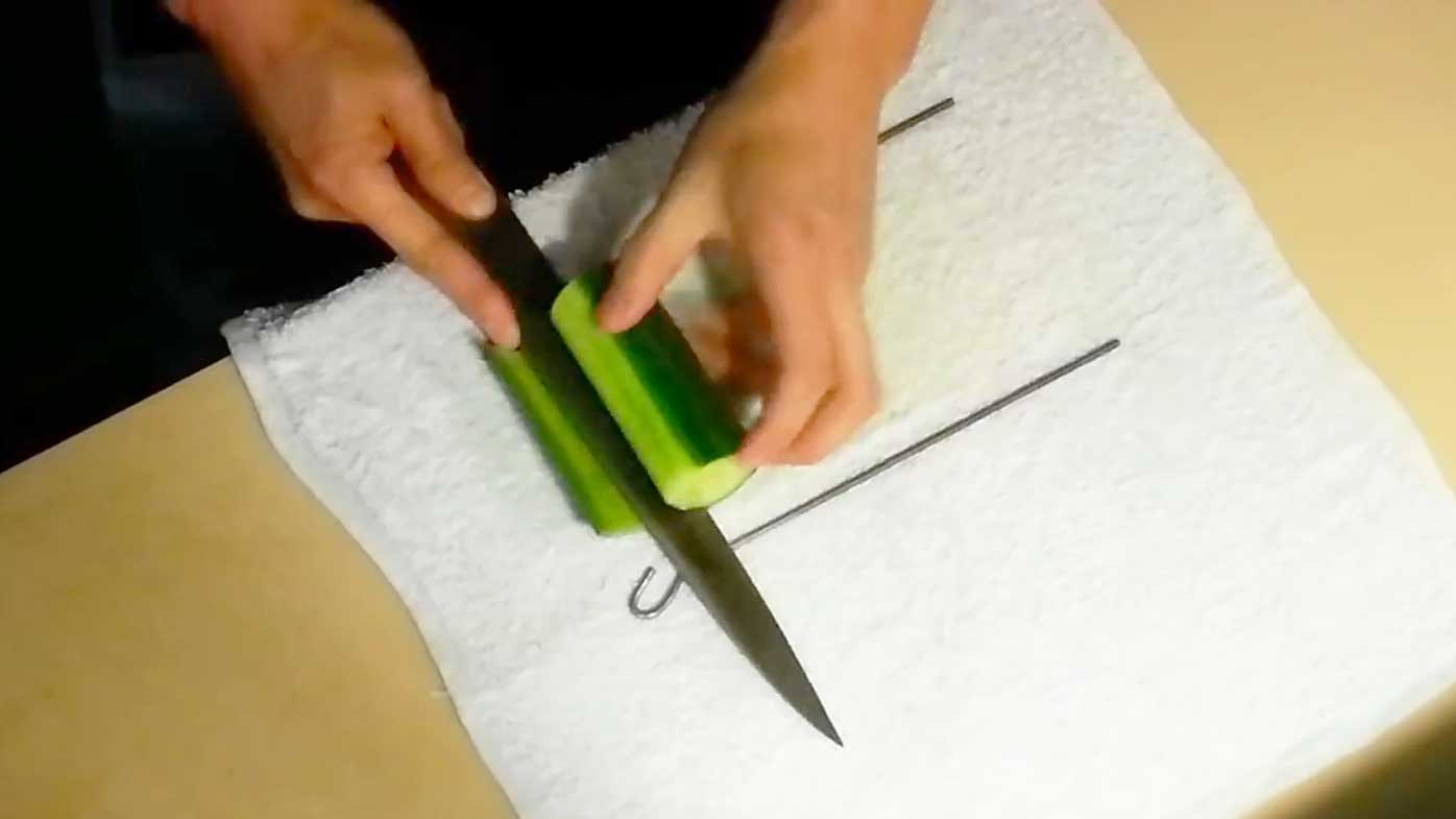 YouTube's Joe Sushi Master demonstrates fastest way to peel a cucumber