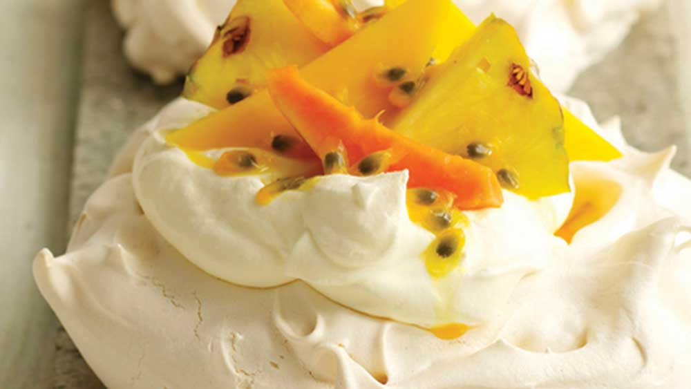 Kenwood pavlova with exotic fruits