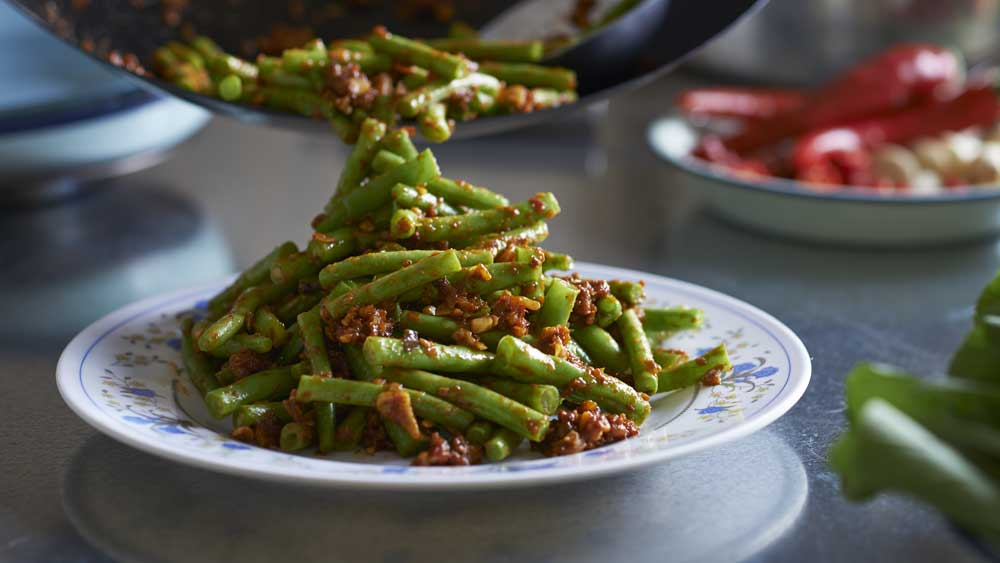 Ayam's Malaysian sambal green beans