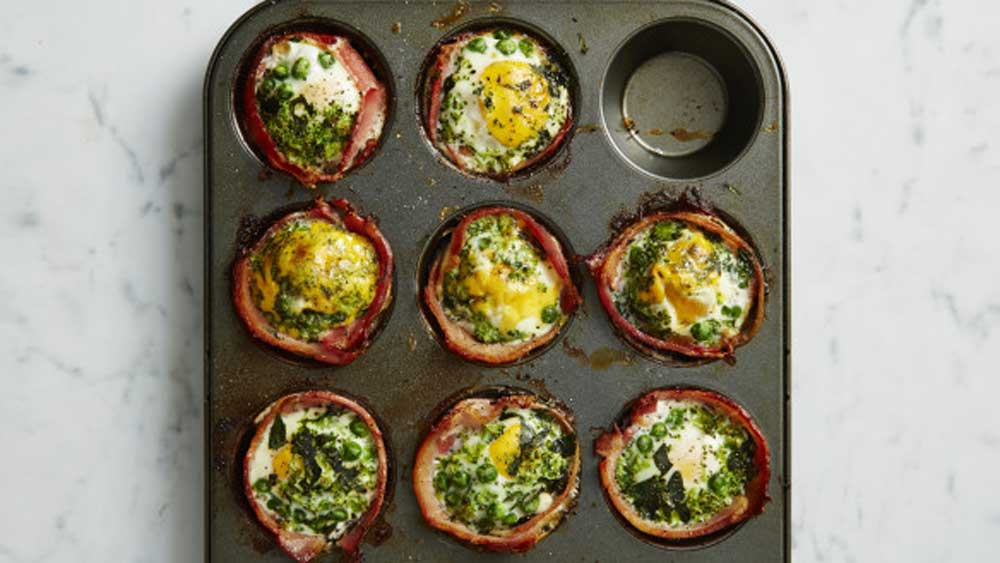 I Quit Sugar's green bacon and egg cupcakes