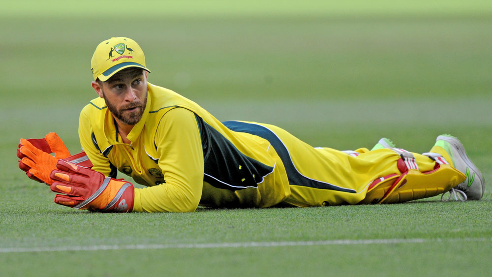 Injured Australian wicketkeeper Matthew Wade has headed to Dubai to prepare for the series against India. (AAP)