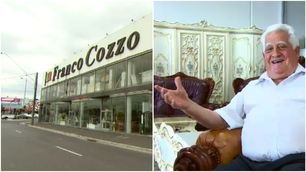 Melbourne's king of furniture 'here to stay' after 60 years in the business