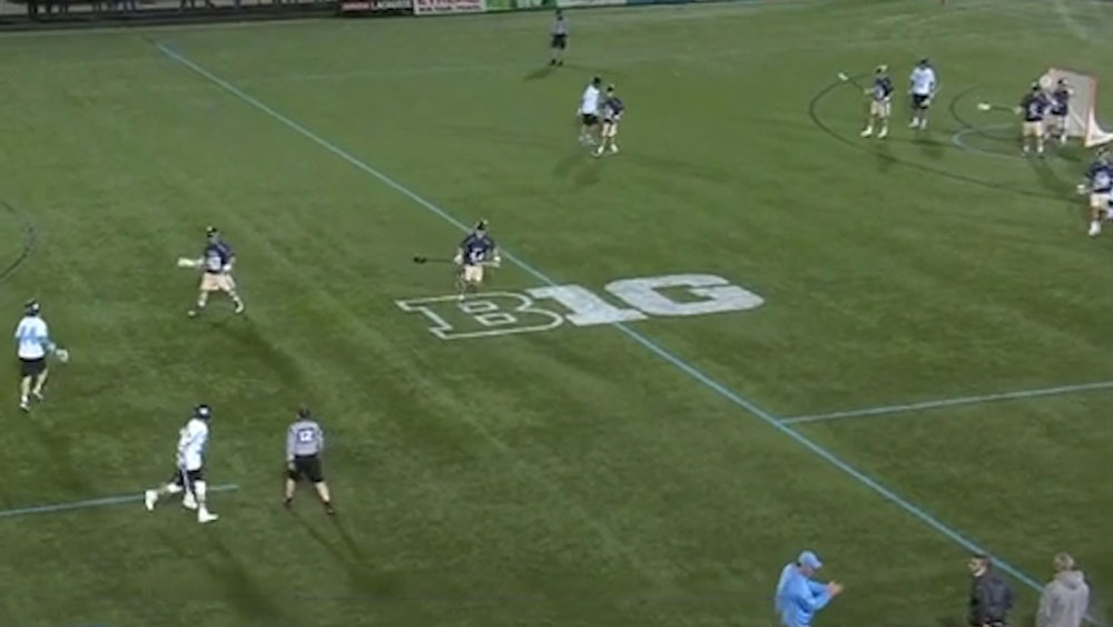 Lacrosse player channels 'JT' with brilliant trick shot