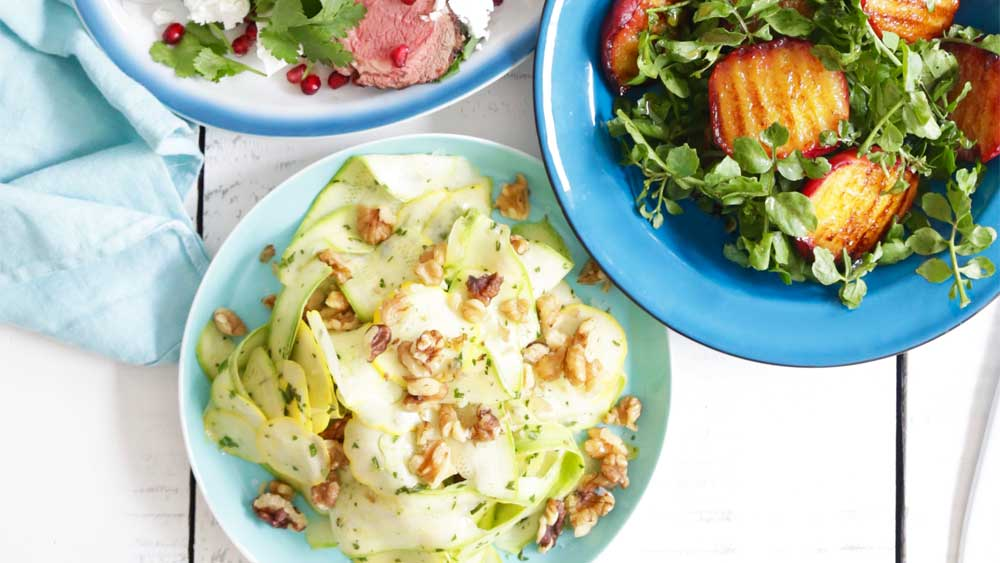 Summer squash and zucchini ribbon salad recipe