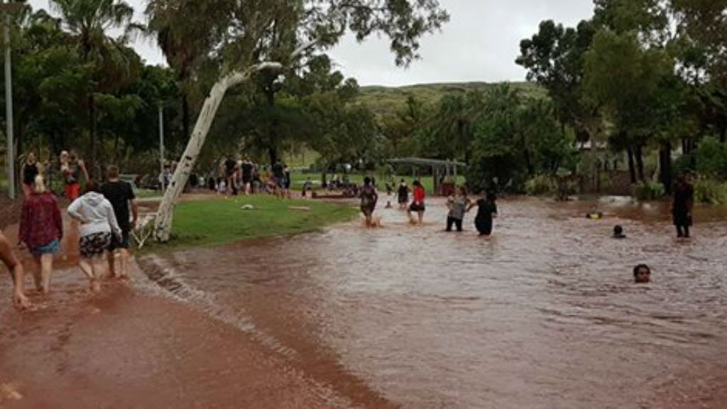 Perth dumped with summer deluge in second wettest February day on record