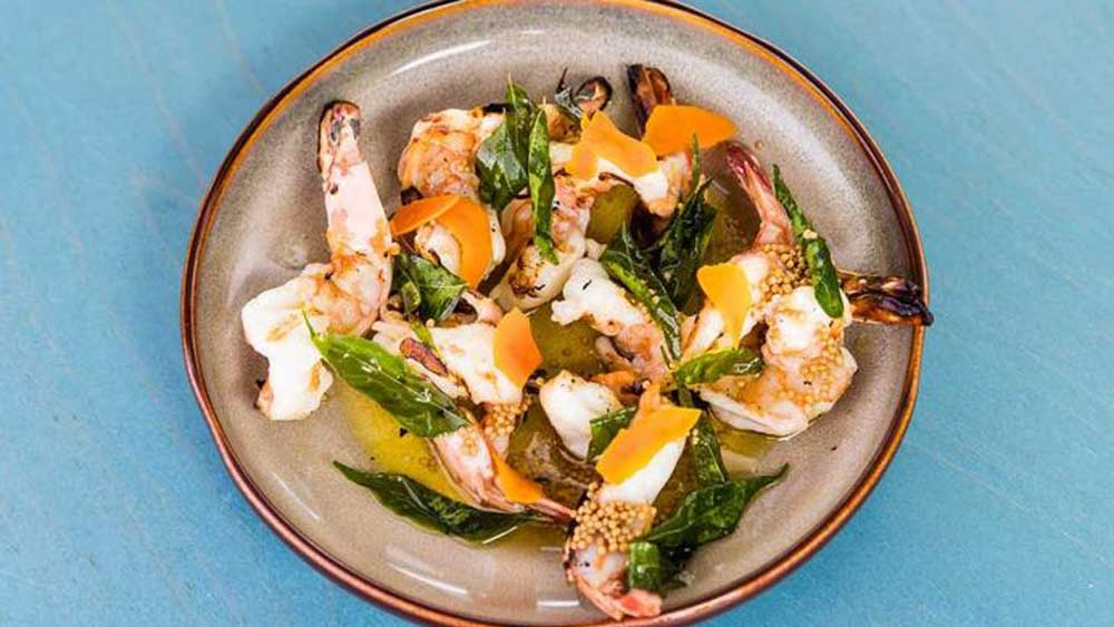 Banksii's chargrilled prawns