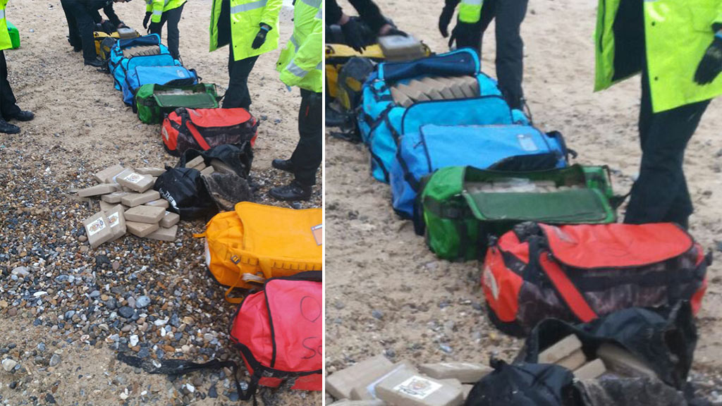 Cocaine haul worth $81 million washes up on British beaches