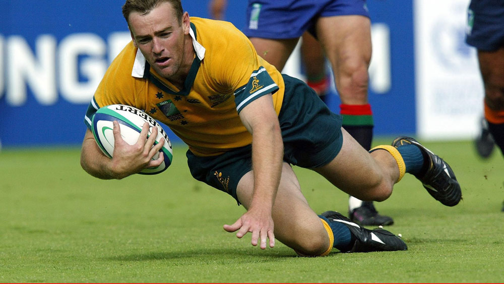 Chris Latham playing for the Wallabies in the 2003 World Cup. (AAP)