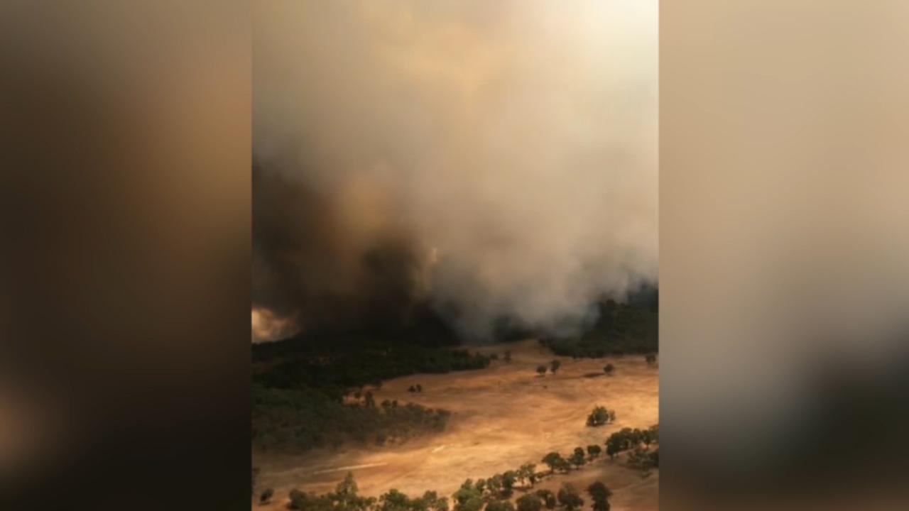 The fire near Dunedoo. (9NEWS)