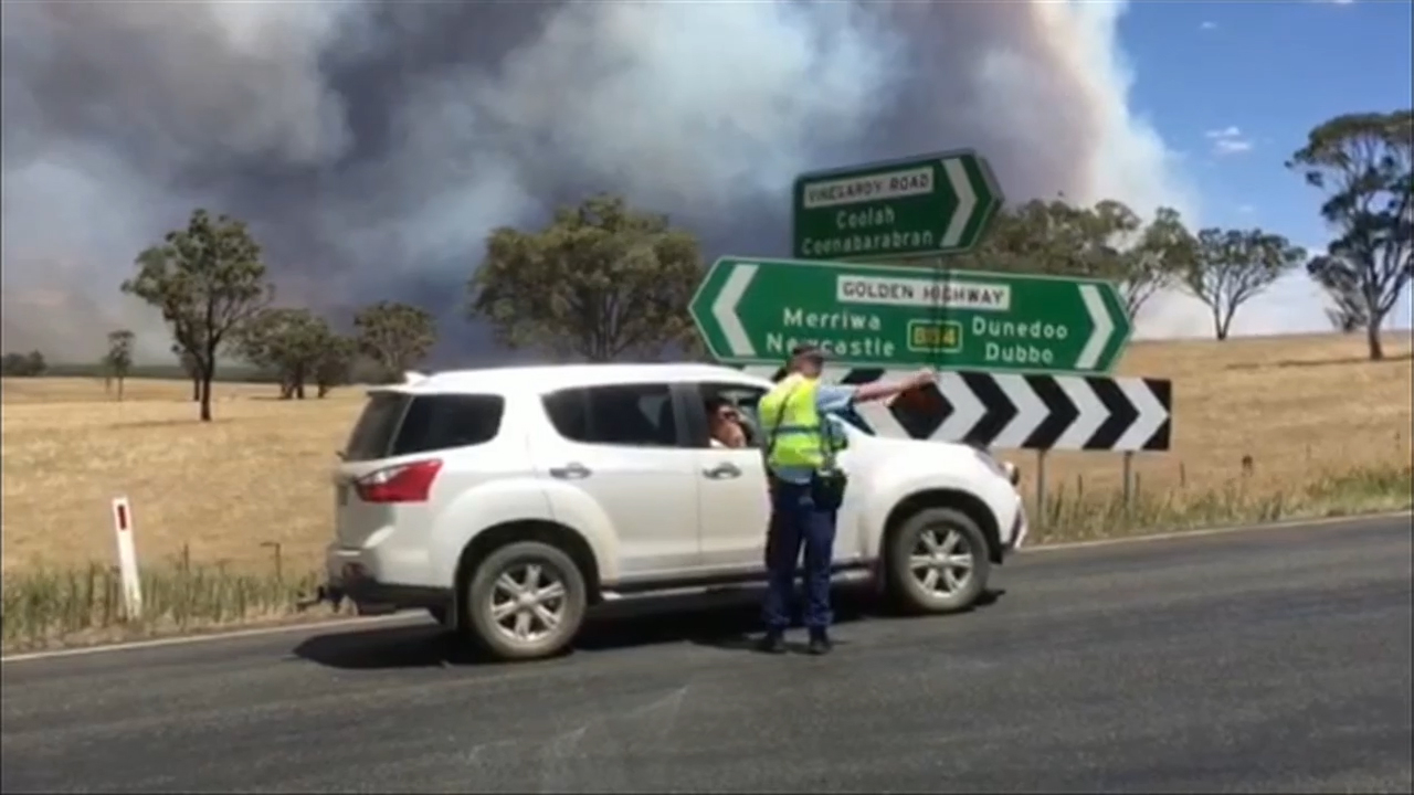 The high temperatures sparked fires across the state. (9NEWS)