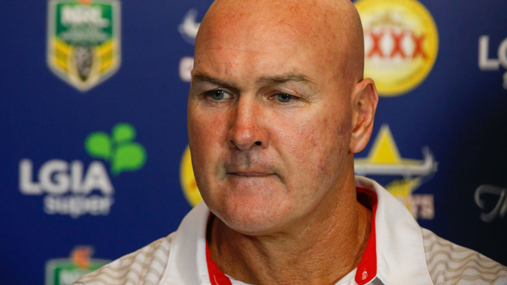 Paul McGregor is fighting to keep his coaching job at St George Illawarra in 2017. (AAP)