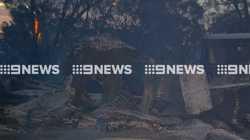 Fires have caused property loss in New South Wales's Central West. (9NEWS)