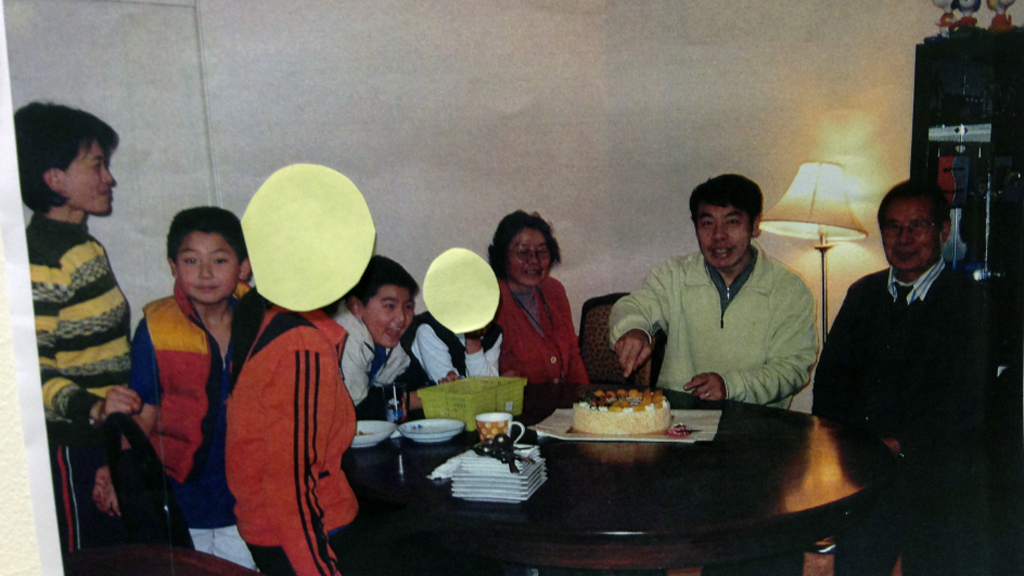 A photograph of Irene Lin, Terry Lin, Henry Lin, Min Lin and other was presented as evidence. (AAP)