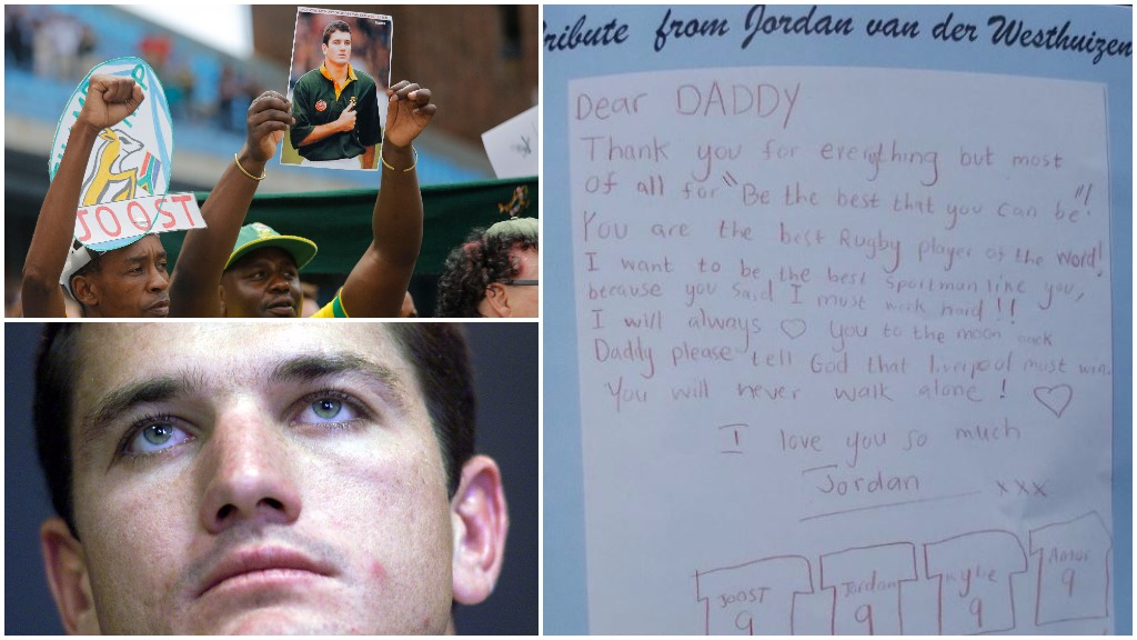 Son of South African rugby player Joost van der Westhuizen pens heartfelt tribute to dad