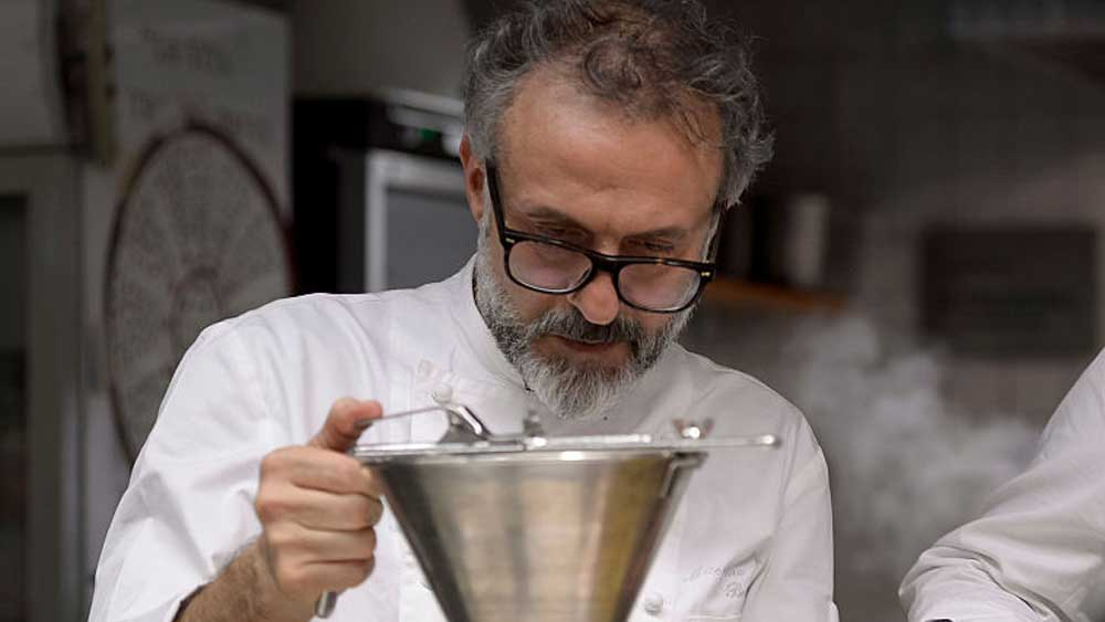 Chef Massimo Bottura in action