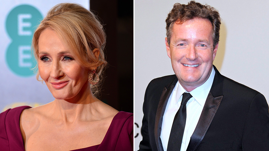 J.K. Rowling trolls Piers Morgan with his own work