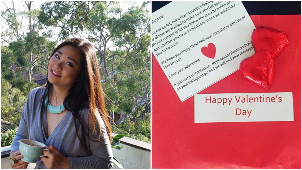 Woman delivers hand-written love notes to strangers on Valentine's Day
