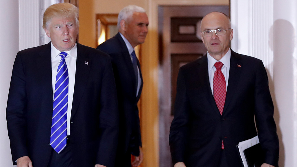 President Trump's pick for labor secretary Andrew Puzder withdraws his nomination
