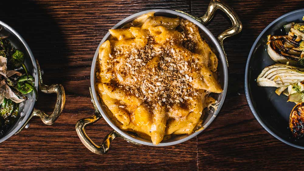 Eastside Grill's truffled mac'n'cheese