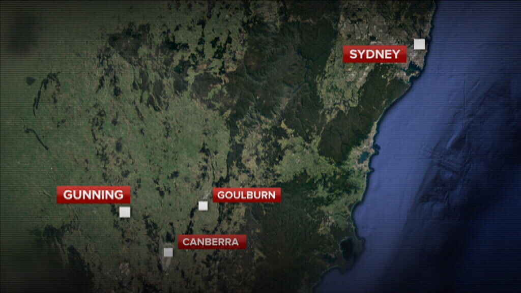 Gunning is a three hour drive from Sydney. (9NEWS)
