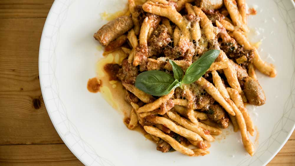 assimo Mele's handmade macaroni with traditional ragu sauce