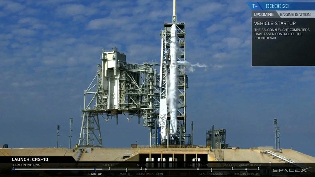 SpaceX aborts rocket launch after 'odd' engine behavior