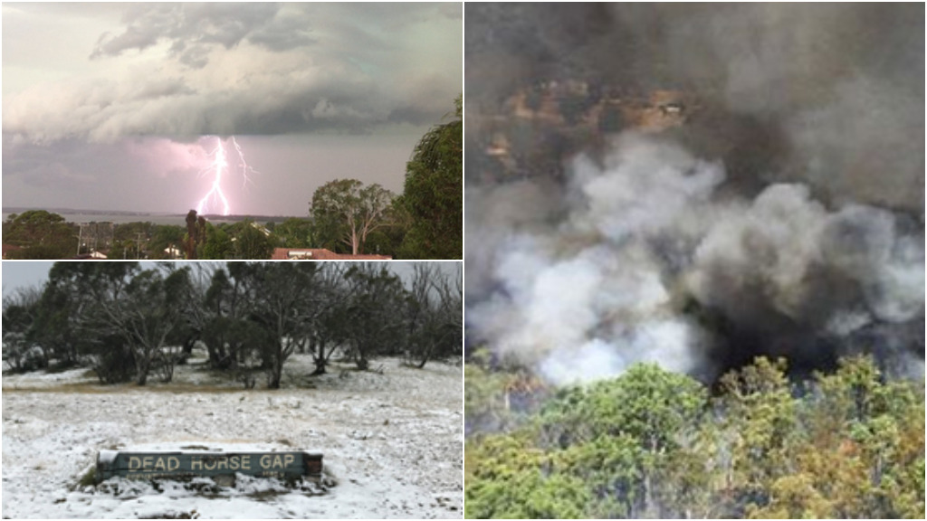 Fires, storms and now snow: More extreme weather hits New South Wales