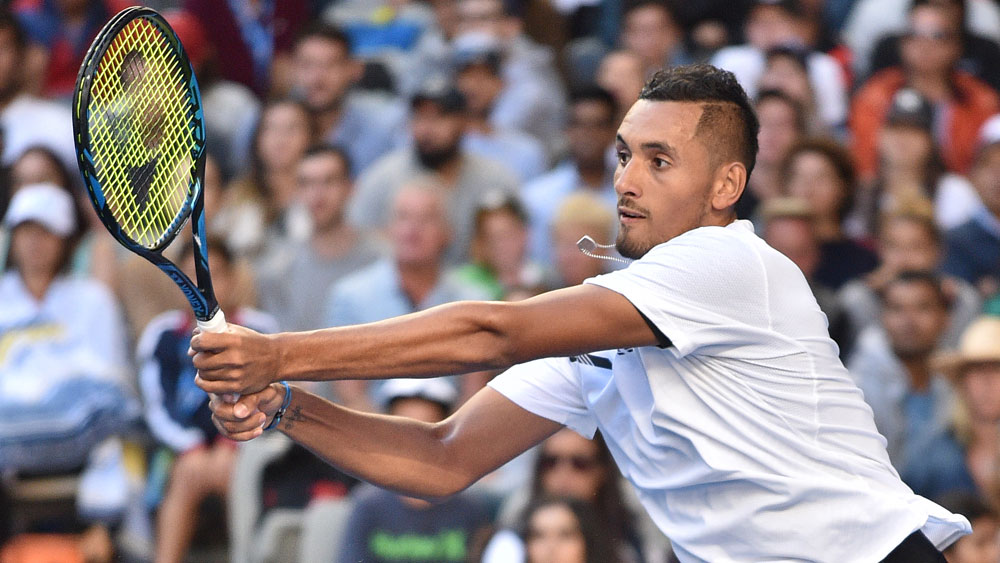 Nick Kyrgios will open his title defence at the Open 13 against Tunisian Malek Jaziri. (AFP)