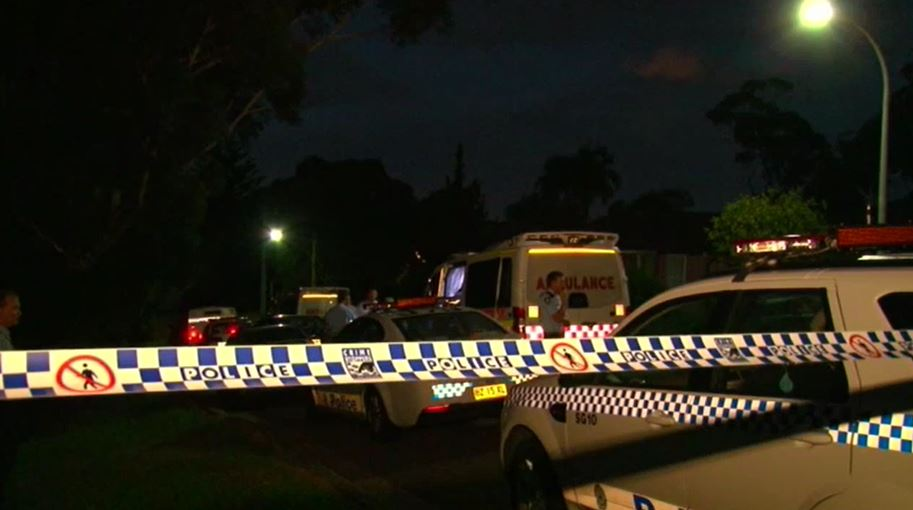Crime scene tape at the scene on the evening of March 30, 2015. (9NEWS)