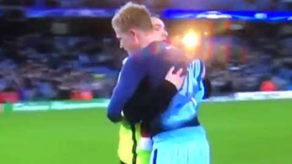 Man City star loses shirt to cheeky fan