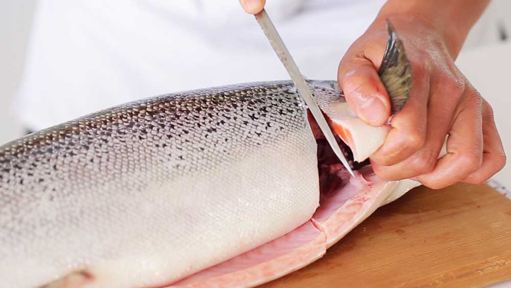 How to fillet a whole salmon like a sushi master