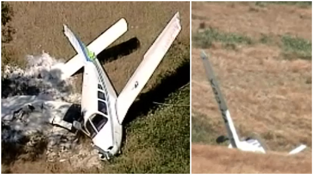 Two people make lucky escape after plane crashes in rural Victoria