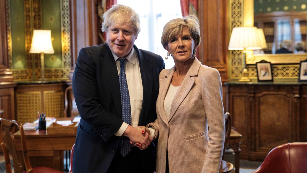 The pair met in London. (AAP)